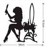 Sticker Mural 3Dbelle Femme À La Recherche De Miroir Mur Autocollant Motif Maquillage Style Vinyle Auto-Adhésif Salon Stickers Murale Salon Décor À La Maison de la marque Fvengsticker Mural image 3 produit