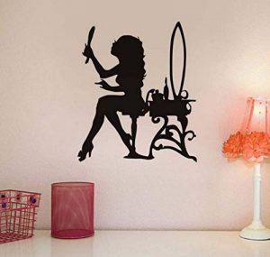 Sticker Mural 3Dbelle Femme À La Recherche De Miroir Mur Autocollant Motif Maquillage Style Vinyle Auto-Adhésif Salon Stickers Murale Salon Décor À La Maison de la marque Fvengsticker Mural image 0 produit