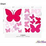 Sticker mural A Papillons Roses pour fille coller de la marque I-love-Wandtattoo image 2 produit