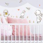 Sticker mural aquarelle chambre d'enfant déco Ensemble lapin fleurs de la marque dekodino image 1 produit