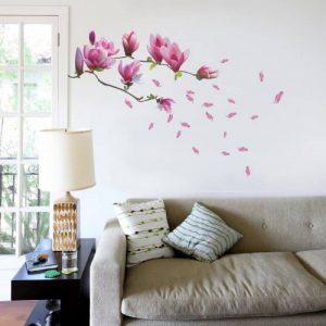 Sticker Mural Art Immense Magnolia Fleurs Amovible Repositionable Salon Luxe de la marque Home-Decor image 0 produit