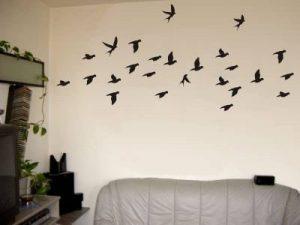 Sticker mural autocollant mural très grand Nuée d'Oiseaux noir de la marque Unbekannt image 0 produit