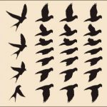 Sticker mural autocollant mural très grand Nuée d'Oiseaux noir de la marque Unbekannt image 1 produit