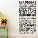 Sticker Mural Beestick - Les Règles de La Maison 61x120 cm (Noir) - Pose Facile - Stickers Muraux Citations - Fabrication France de la marque Beestick image 1 produit