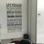 Sticker Mural Beestick - Les Règles de La Maison 61x120 cm (Noir) - Pose Facile - Stickers Muraux Citations - Fabrication France de la marque Beestick image 2 produit