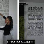 Sticker Mural Beestick - Les Règles de La Maison 61x120 cm (Noir) - Pose Facile - Stickers Muraux Citations - Fabrication France de la marque Beestick image 3 produit