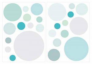 Sticker mural Cercles en pastel tendres tons de bleu et vert points coller de la marque I-love-Wandtattoo image 0 produit