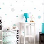 Sticker mural Cercles en pastel tendres tons de bleu et vert points coller de la marque I-love-Wandtattoo image 1 produit