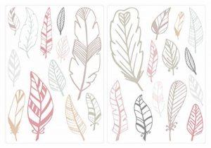 Sticker mural chambre d'enfant autocollants de décoration Couleur Pastel plumes de la marque I-love-Wandtattoo image 0 produit