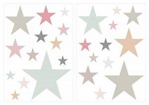 Sticker mural chambre d'enfant autocollants de décoration Pastel étoiles dans d de la marque I-love-Wandtattoo image 0 produit