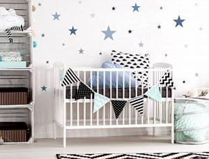 Sticker mural chambre d'enfant autocollants de décoration étoiles dans un délic de la marque I-love-Wandtattoo image 0 produit
