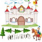 Sticker mural Chevalier & Chateau - 120cm de large x 127cm de haut de la marque Livingstyle-Wanddesign image 1 produit
