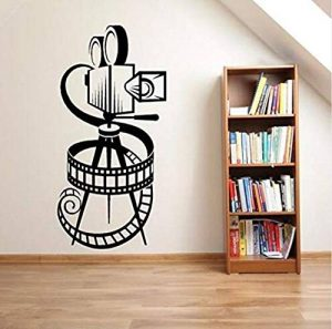 Sticker Mural D'Art Murale Sticker Mural Vinyle Home Cinema Theatre Affiche Murale Film Faire Décor Art 42X86Cm de la marque Loodering wall Sticker image 0 produit