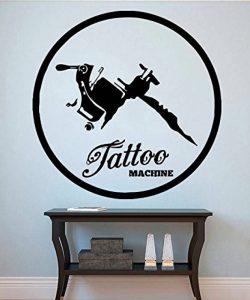 Sticker mural en vinyle machine à tatouer Sticker mural Vinyle autocollant Stickers Home Decor Salon de tatouage Motif décor de la marque Vinly Wall Decal image 0 produit