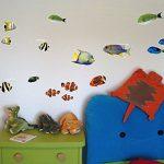 Sticker mural fischaufkleber lot de 22 stickers muraux multicolore 30x20cm de la marque Samunshi image 1 produit