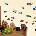 Sticker mural fischaufkleber lot de 22 stickers muraux multicolore 30x20cm de la marque Samunshi image 2 produit