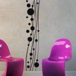 Sticker mural frise Dot Wave uss251Sticker mural Sticker mural Salon Chambre à coucher, noir, 20 x 100 cm de la marque universumsum image 4 produit