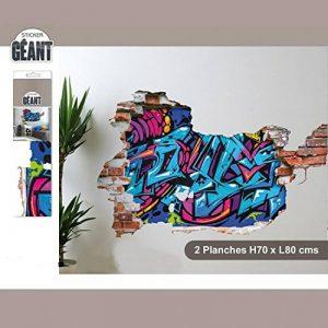 Sticker Mural Géant avec Graffiti en Trompe l'Oeil de la marque STC image 0 produit