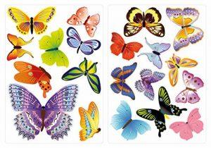 Sticker Mural kit A Papillons Multicolores diversité Coller de la marque dekodino image 0 produit