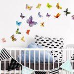 Sticker Mural kit A Papillons Multicolores diversité Coller de la marque dekodino image 1 produit
