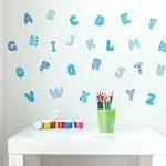 Sticker mural kit alphabet Bleu dessins lettres coller de la marque I-love-Wandtattoo image 1 produit