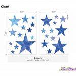 Sticker mural kit Aquarelle étoiles dans bleu coller de la marque I-love-Wandtattoo image 2 produit