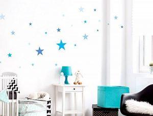 Sticker mural kit étoiles bleues pour garçon coller de la marque I-love-Wandtattoo image 0 produit