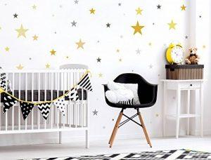 Sticker mural kit étoiles dans sommerlichen Pastel Jaune et gris Tons ciel étoi de la marque I-love-Wandtattoo image 0 produit