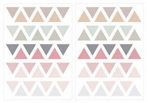 Sticker Mural kit Trois Coin dans Moderne Pastel pièces des Formes géométriques de la marque dekodino image 0 produit