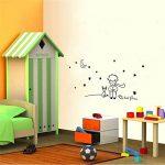 Sticker mural Le Petit Prince Noir, env. 100x 45cm de la marque 4yourpet image 3 produit