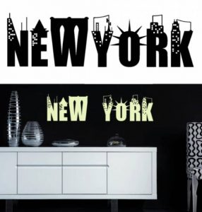 Sticker mural New York (sticker noir) de la marque Decooo-be image 0 produit