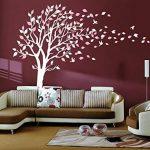Sticker mural par BDECOLL,vinyle motif arbre à cœurs pour chambres d'enfants et décoration maison /Décoration murale en fleurs /Autocollant mural d'arbre de nature de la marque BDECOLL image 2 produit