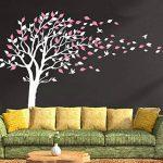 Sticker mural par BDECOLL,vinyle motif arbre à cœurs pour chambres d'enfants et décoration maison /Décoration murale en fleurs /Autocollant mural d'arbre de nature de la marque BDECOLL image 3 produit