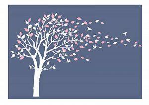 Sticker mural par BDECOLL,vinyle motif arbre à cœurs pour chambres d'enfants et décoration maison /Décoration murale en fleurs /Autocollant mural d'arbre de nature de la marque BDECOLL image 0 produit