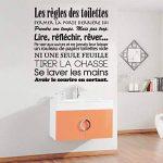 Sticker Mural Salle De Bain Français Règles De Toilette Vinyle Stickers Muraux Mur Art Mural Papier Peint Décor À La Maison de la marque LEELIYA image 3 produit