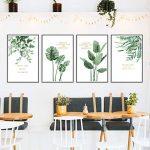 Sticker mural salon salle à manger moderne minimaliste plante verte cadre photo frais amovible de la marque YUXAN image 1 produit