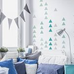 Sticker mural Triangles dans une combinaison de couleurs moderne pièces des for de la marque I-love-Wandtattoo image 1 produit