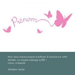 Sticker Personnalisable Papillons Rose Clair 50x16 cm de la marque stickers-center image 0 produit