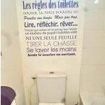 Sticker pour WC/Toilettes - Les règles des toilettes, autocollant éducatif/humoristique - taille 60x61 cm noir - Les stickers muraux Beestick se posent très facilement (un seul morceau) de la marque Beestick image 1 produit