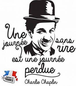 Sticker Une journée sans rire - Charlie Chaplin - Stickers muraux Marque Beestick - Taille 51x60 cm (noir) de la marque Beestick image 0 produit