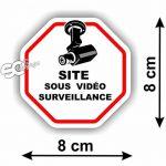 """Sticker Vidéo-Surveillance """" Site """" Autocollant ( Lot de 4 Stickers ) de la marque SC image 1 produit"""