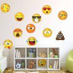 Stickerbrand Autocollants d'icônes sticker mural emoji visages autocollant 6po X 6po Jaune de la marque Stickerbrand image 1 produit
