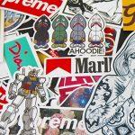 StickerFactory Lot de 150 autocollants tendances en vinyle Différents styles aléatoires Pour ordinateur portable, MacBook, voiture, vélo, skateboard, snowboard, bagage, valise, meubles Effet vintage de la marque StickerFactory image 3 produit