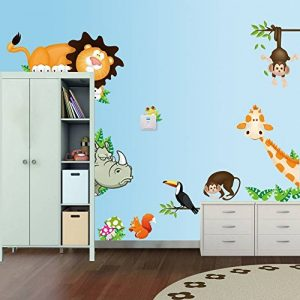 Stickerkoenig Stickers Sticker mural chambre Afrique Animaux de la jungle Lion, Singe, rhinocéros, girafe etc multicolores Stickers muraux # 001 de la marque Stickerkoenig image 0 produit