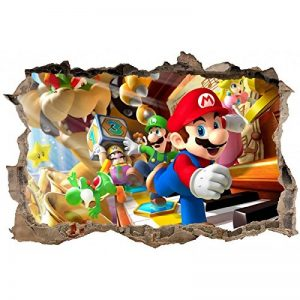 Stickers 3D Mario Réf 23619-120x80cm de la marque Stickers-Enfant image 0 produit