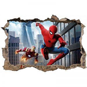 Stickers 3D Spider Man et Iron Man Réf 52474-120x80cm de la marque Stickers-Enfant image 0 produit