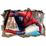 Stickers 3D Trompe L'Oeil Spiderman Réf 23244-120x80cm de la marque Stickers-Enfant image 1 produit