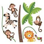 Stickers adhésifs Enfants | Sticker Autocollant animaux de la savane - Décoration murale chambre enfants | 60 x 60 cm de la marque Ambiance Sticker image 2 produit