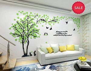 Stickers Arbre Mural, 3D Stickers Muraux Cristal en Acrylique Arbre avec des Branches Incurvées et des Cadres de Photo pour Décoration de la Maison (Oiseau) de la marque AmberH image 0 produit