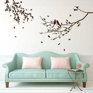 Stickers autocollants Décoration murale Motif oiseaux et arbre Small marron de la marque Vinyl Concept image 0 produit